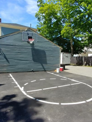 outdoor basketball court line striping  Biddeford, ME